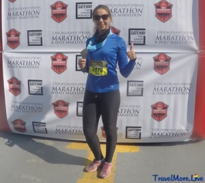 Running in Chicagoland Marathon May, 2016